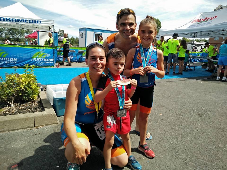 Famille de quatre - Triathlon